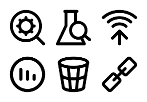 SEO and Marketing Bold Icons 3