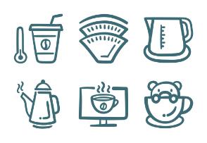 Set.02 Coffee Outline Doodle