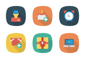Shopping and E-Commerce Flat Square Shadow vol 1