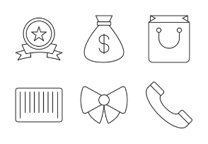 Shopping And Retail line