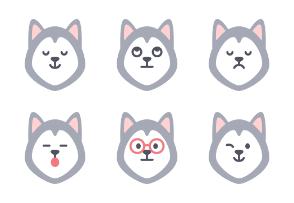 Siberian Husky Emoji
