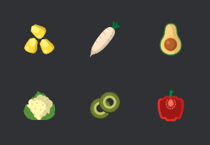 Simple flat vegetable