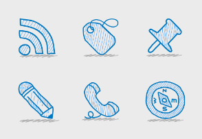 Sketchy Office Icon Set