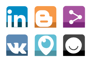 Small Lower Shadow Social Media Icons