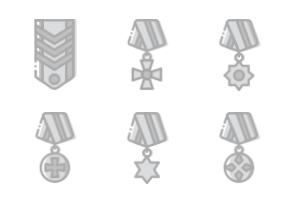 Smashicons Badges & Army - Greyscale - Vol 1