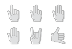 Smashicons Hand Gestures - Greyscale - Vol 3