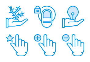 Smashicons Hand Gestures - Webby - Vol 1
