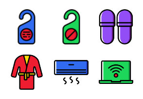 Smashicons Hotel Services - Cartoony - Vol 2