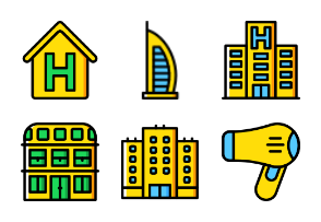Smashicons Hotel Services - Yellow - Vol 1