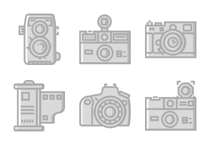 Smashicons Photography & Video - Greyscale - Vol 1