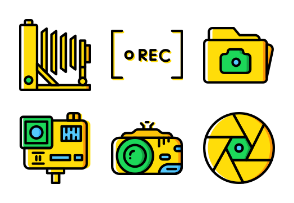 Smashicons Photography & Video - Yellow - Vol 2