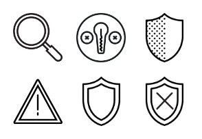 Smashicons Security - Outline