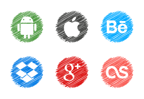 Social Icons Scribble