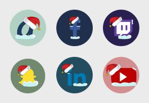 Social Media Christmas theme