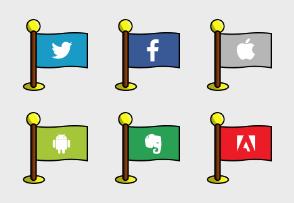 Social Media Flags