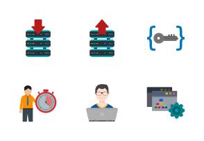 Software Development Flat Colorful