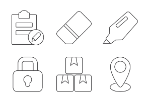 Software & Office Tools - Thin outline