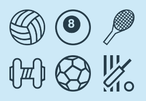 Sports & Game Outlines