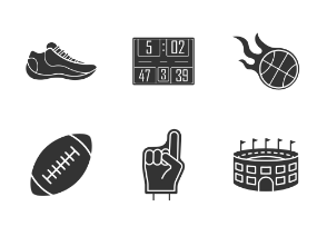 Sports. Glyph. Silhouettes