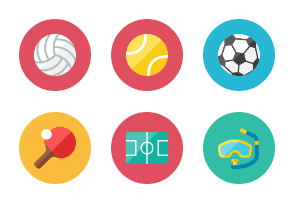 Sports Icons - Rounded