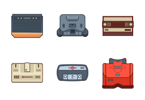 Consoles Game Filled outline