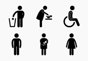 Toilet and Restrooms Symbols