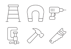 Tools & Equipment - Thin outline