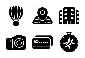 Travel and tourism (glyph)