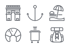 Travelling icon set, Ist part
