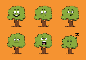 Tree Emoji Cartoons