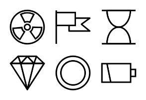 Universal Mobile Line Icons Vol 6