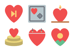 Valentine Colored Icons 3