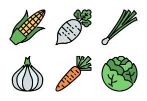 Vegetable Color Outline