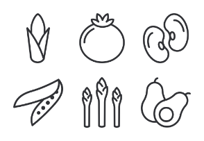 Vegetables - Outline