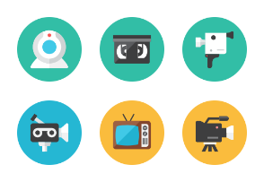 Video Icons - Rounded