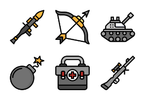 Weapons filloutline