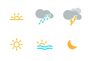 Weather - web - app UI - colored