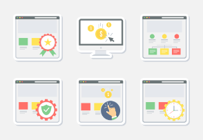 Web layout sticker icons