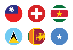 World Flags Circled Vol 3