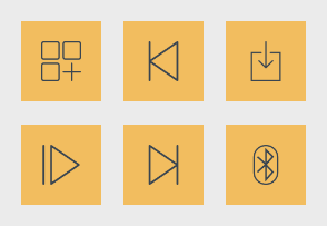 Yellow Business Icons 1