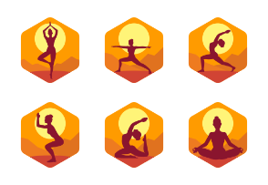 Yoga Meditation Exercise hexagon