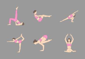 Yoga Poses | pink
