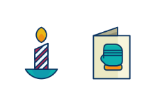Filled Line Christmas Icons