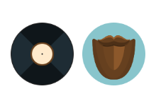Hipster flat icons