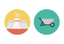 Industry flat icons