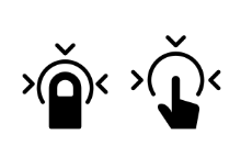 iPhone 7 & AirPods icons - Solid Style