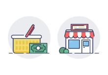 Filled Outline E-commerce for Shopify
