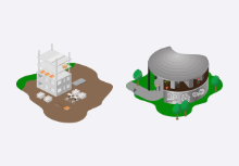 Map Isometric SVG Icons